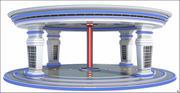 공상 과학 광장 3d model