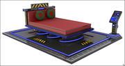 Научно-фантастическая спальня 3d model