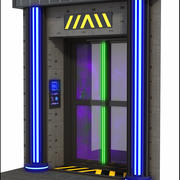 Sci-Fi Door 3d model