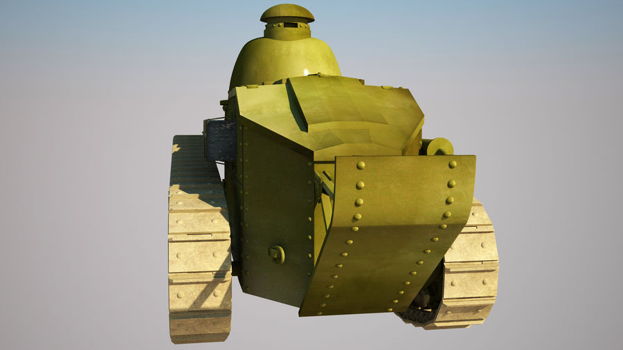 old_army_tank royalty-free 3d model - Preview no. 4