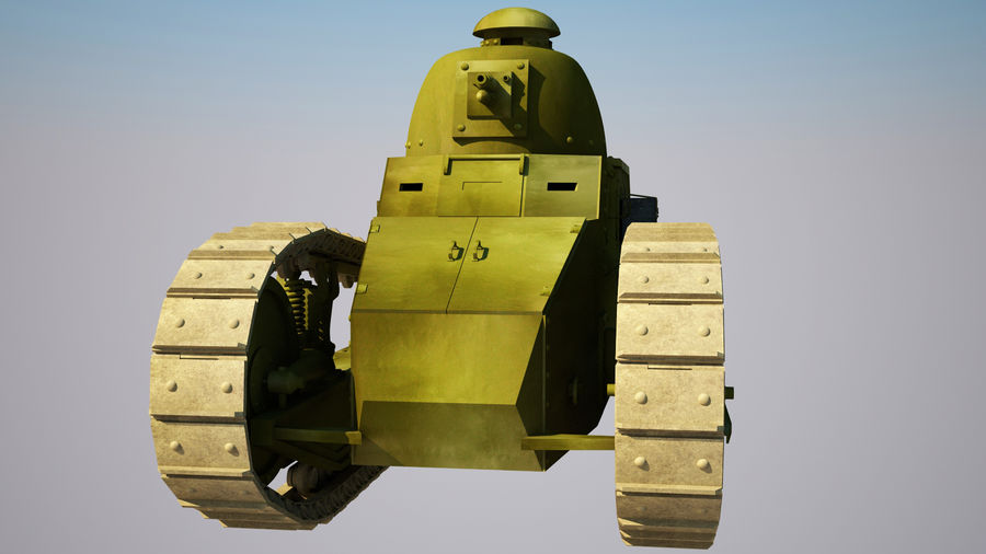 old_army_tank royalty-free 3d model - Preview no. 3