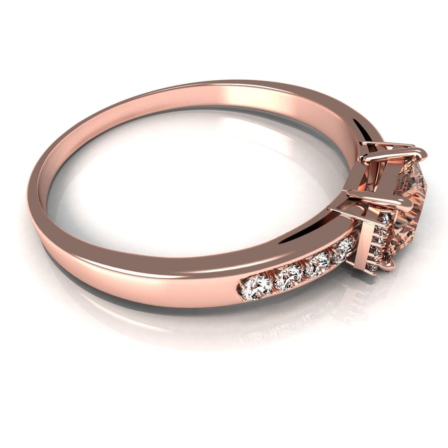 rose gold ring royalty-free 3d model - Preview no. 3