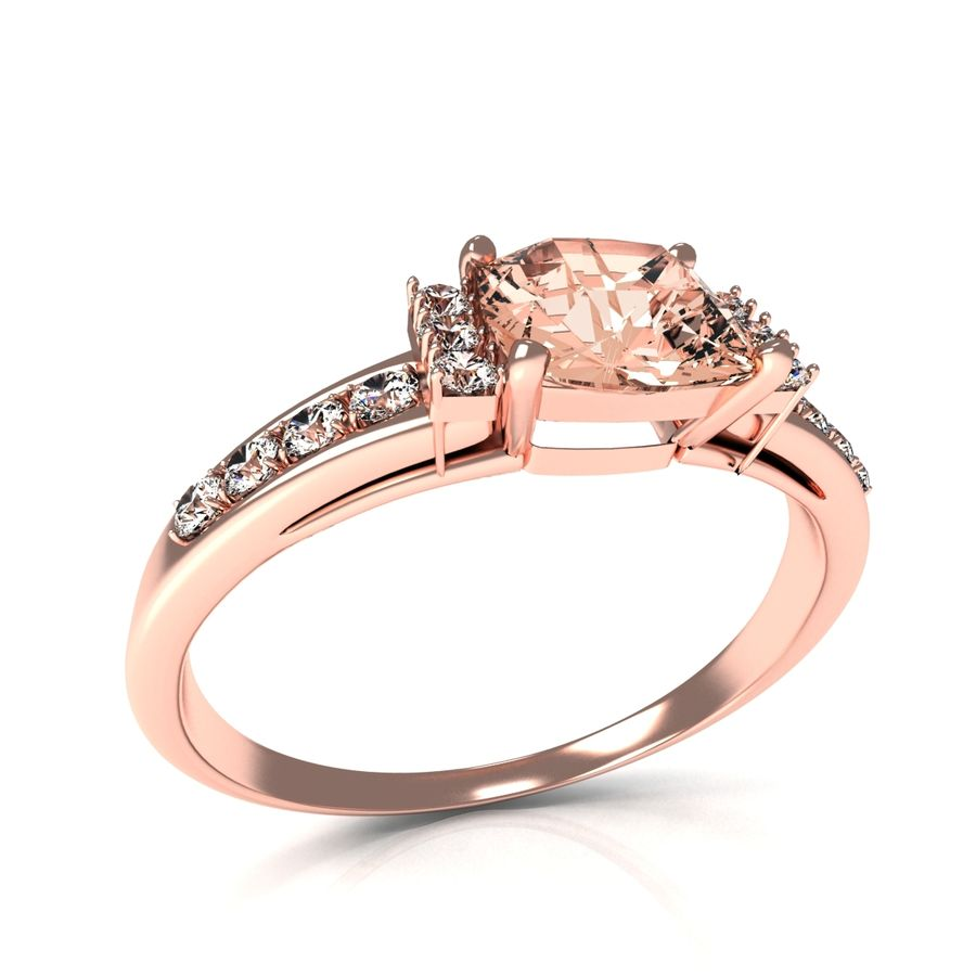 rose gold ring royalty-free 3d model - Preview no. 6