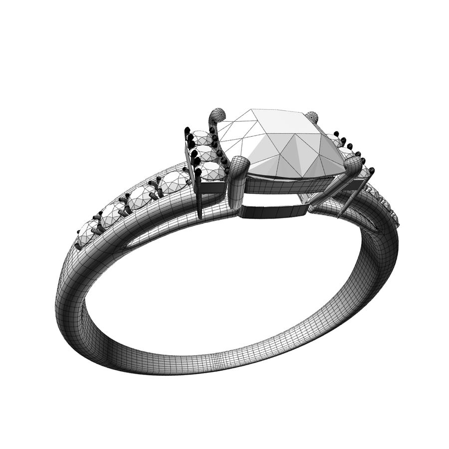 rose gold ring royalty-free 3d model - Preview no. 7