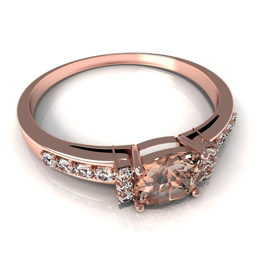rose gold ring royalty-free 3d model - Preview no. 2