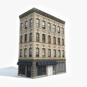 Apartment Building 12 3d model