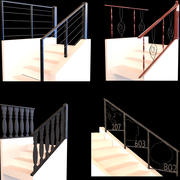 Collection of Five Stair Railings 3d model
