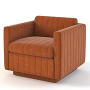 Milo Baughman Art Deco Cube Club Lounge Chair 3d model
