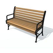 通常的长凳H 3d model