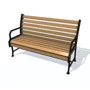 通常的长凳J 3d model