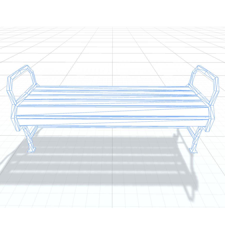 Обычная скамейка К royalty-free 3d model - Preview no. 7
