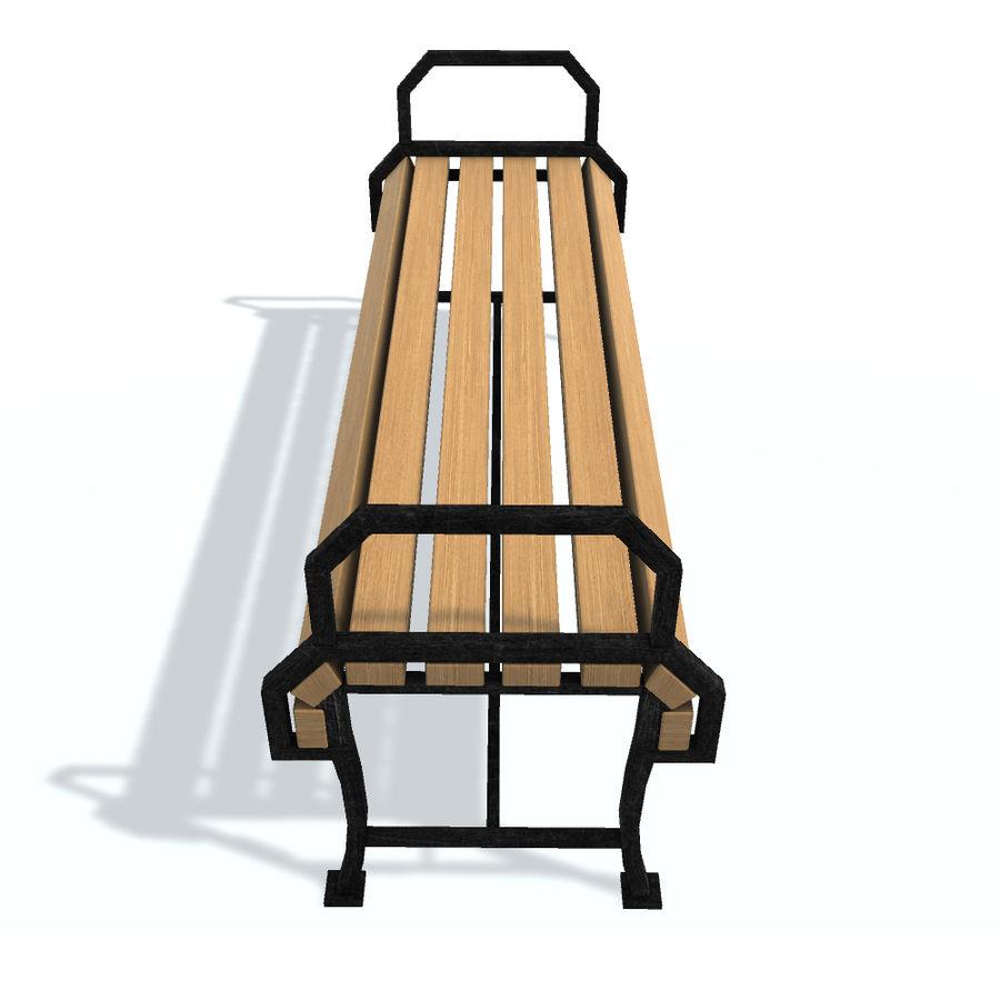 Обычная скамейка К royalty-free 3d model - Preview no. 4