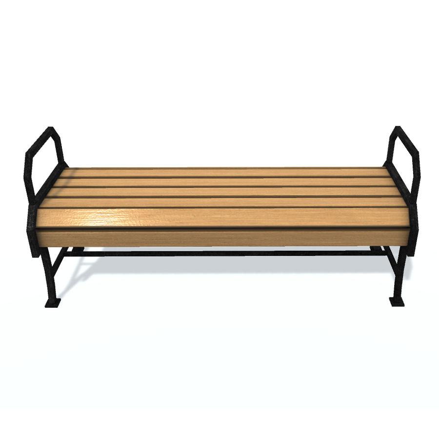 Обычная скамейка К royalty-free 3d model - Preview no. 2