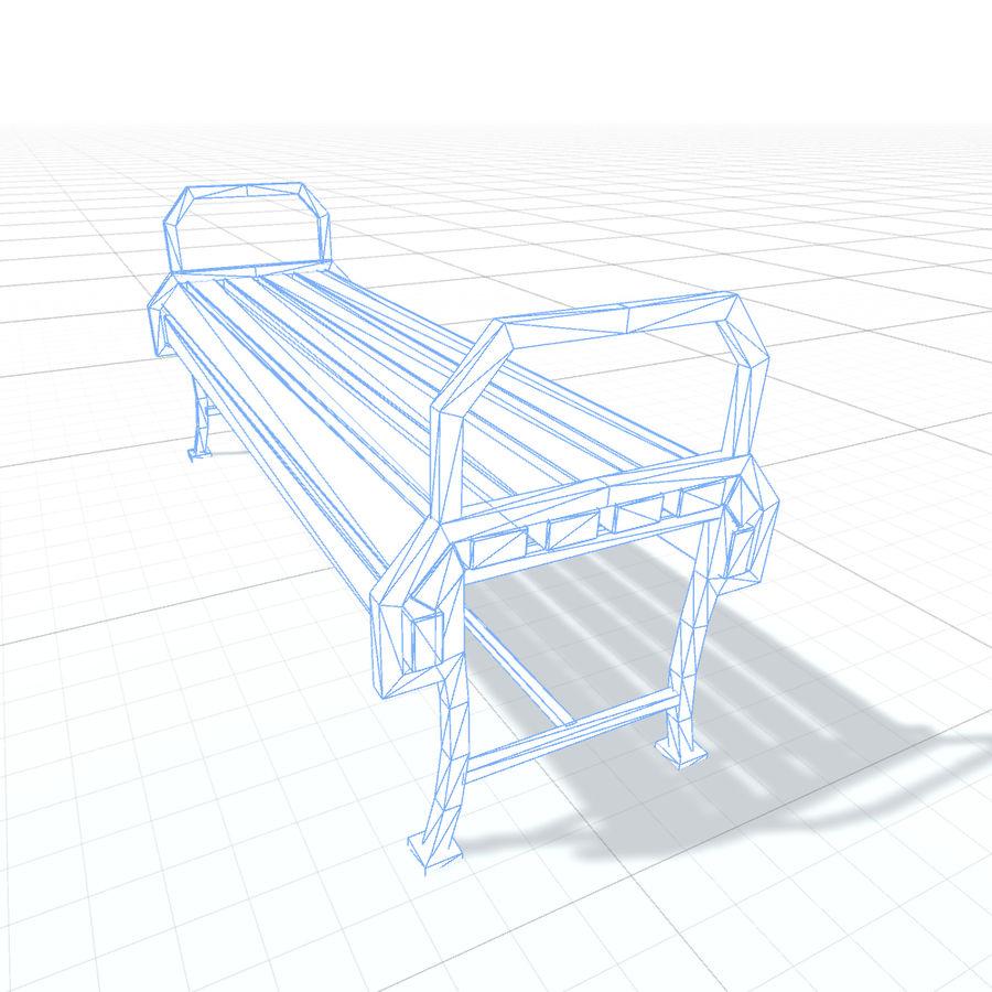 Обычная скамейка К royalty-free 3d model - Preview no. 6