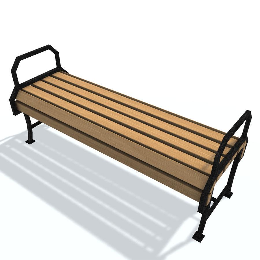 Обычная скамейка К royalty-free 3d model - Preview no. 5