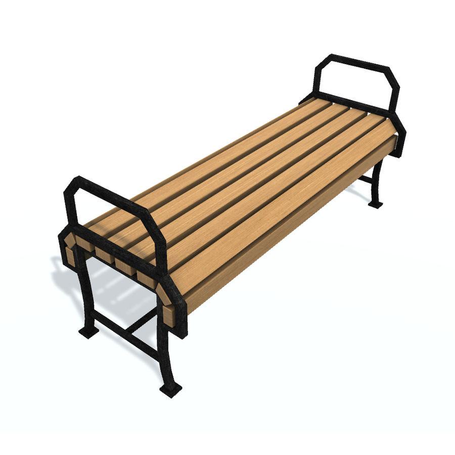 Обычная скамейка К royalty-free 3d model - Preview no. 3