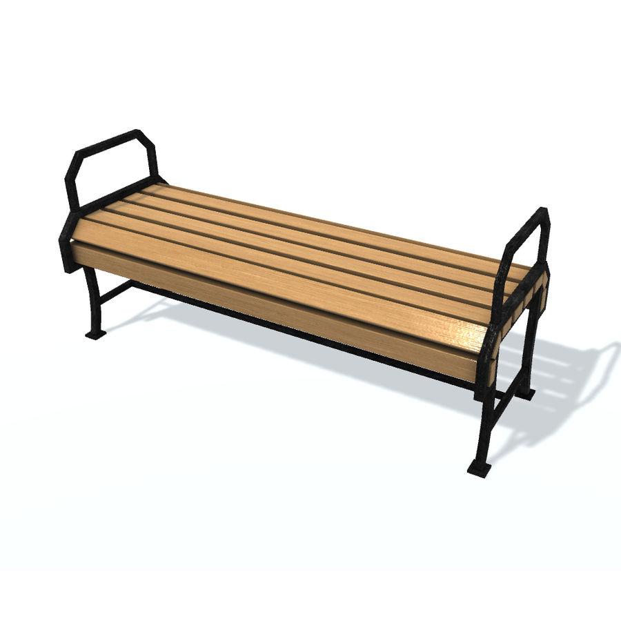 Обычная скамейка К royalty-free 3d model - Preview no. 1