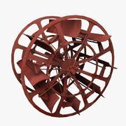 Гребное колесо 3d model