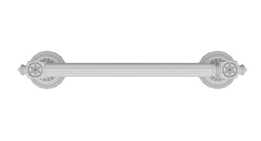 Classic Door Handle 001 royalty-free 3d model - Preview no. 10