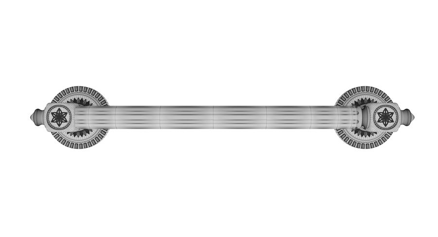 Classic Door Handle 001 royalty-free 3d model - Preview no. 9