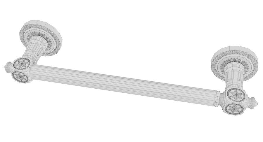 Classic Door Handle 001 royalty-free 3d model - Preview no. 6
