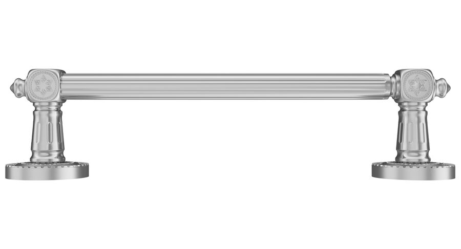 Classic Door Handle 001 royalty-free 3d model - Preview no. 3