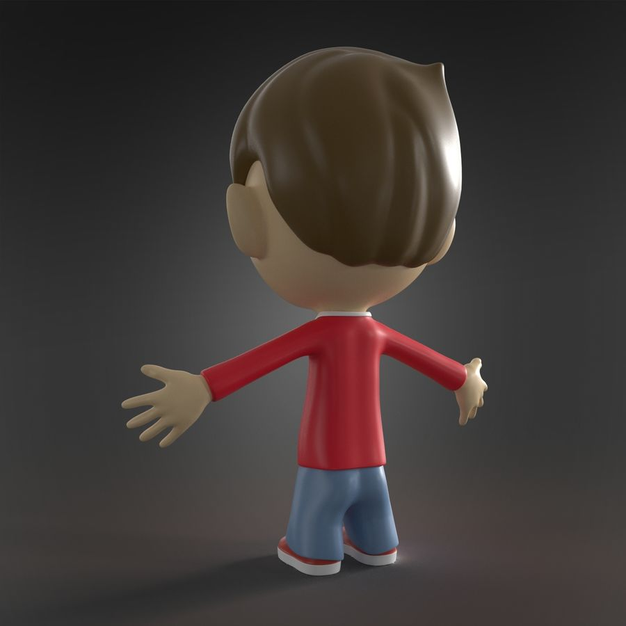 Cartoon character royalty-free 3d model - Preview no. 4