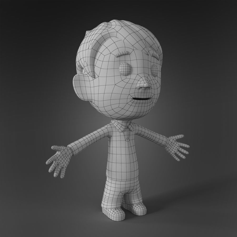 Cartoon character royalty-free 3d model - Preview no. 6