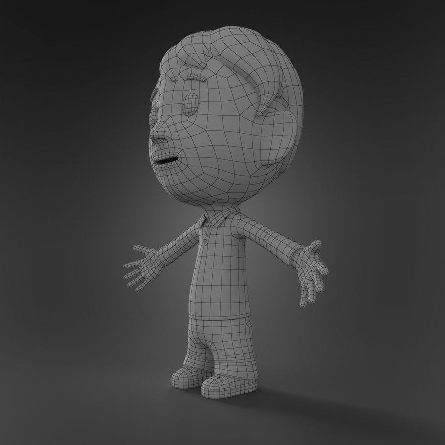 Cartoon character royalty-free 3d model - Preview no. 8