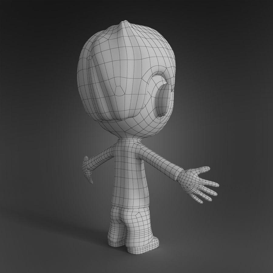Personaje animado royalty-free modelo 3d - Preview no. 10