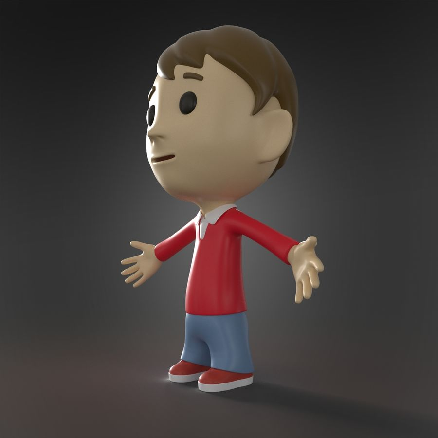 Personaje animado royalty-free modelo 3d - Preview no. 3