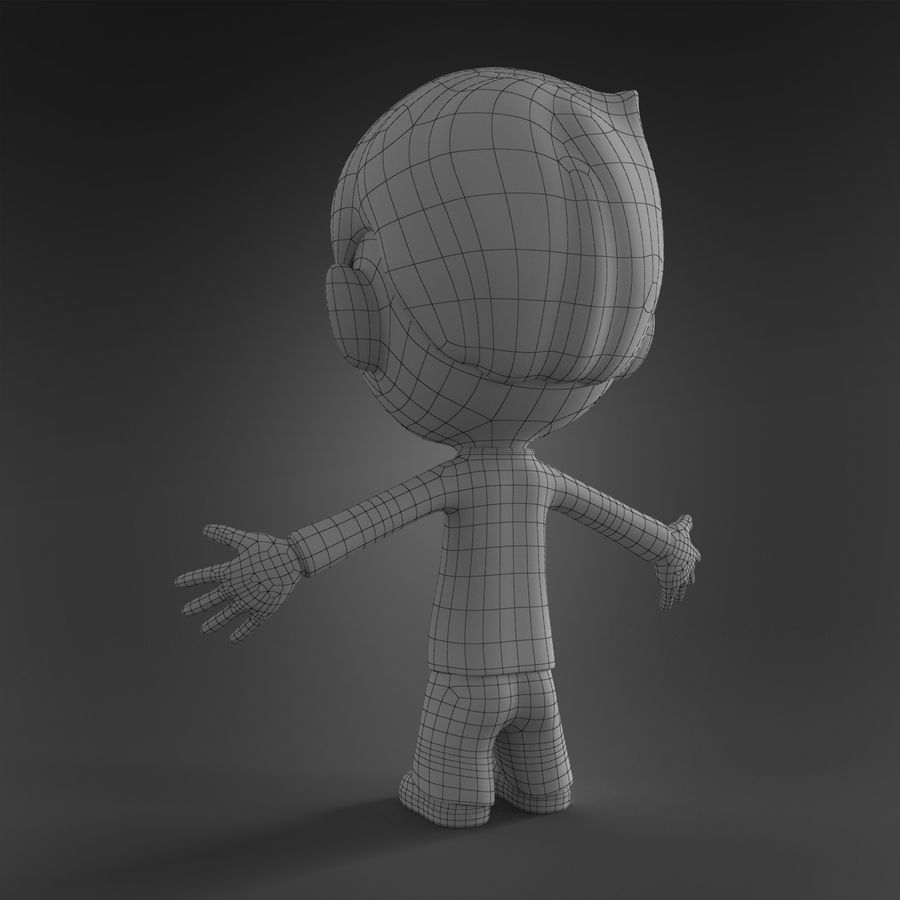 Cartoon character royalty-free 3d model - Preview no. 9