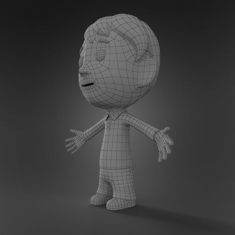 Personaje animado royalty-free modelo 3d - Preview no. 8