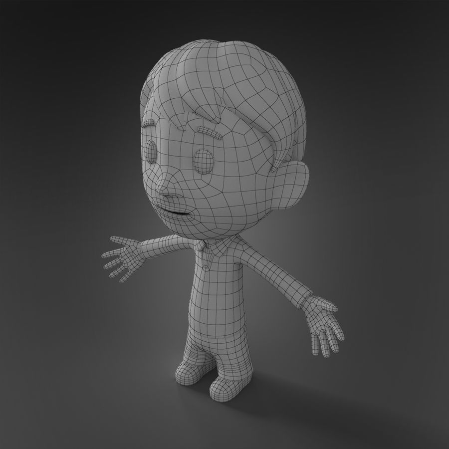 Cartoon character royalty-free 3d model - Preview no. 7