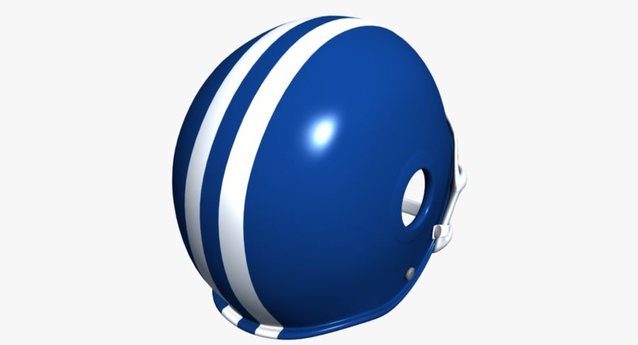 Capacete de futebol royalty-free 3d model - Preview no. 6