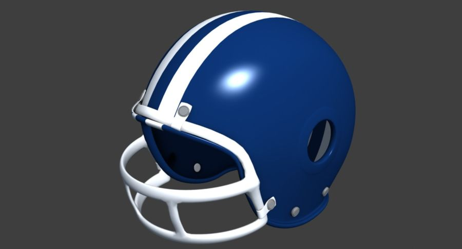 Capacete de futebol royalty-free 3d model - Preview no. 3