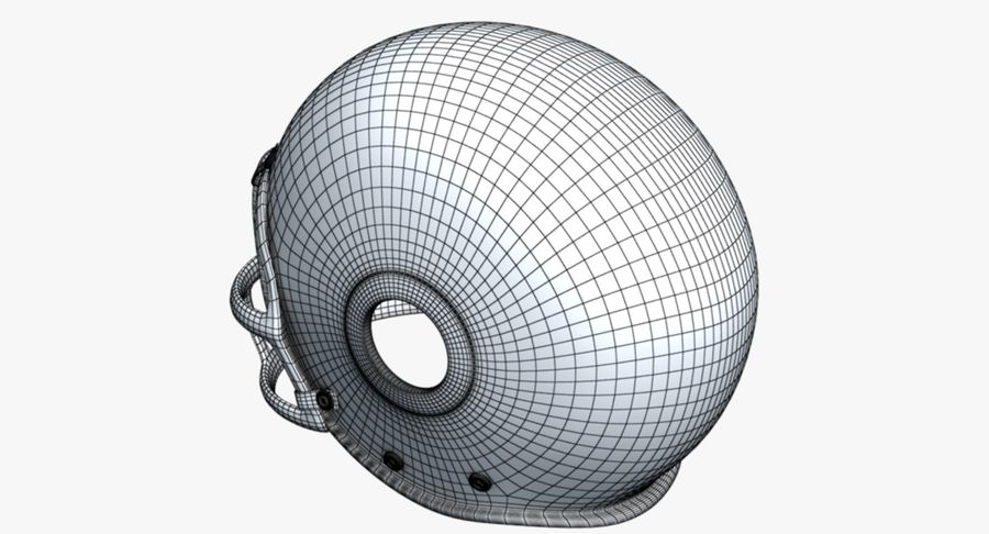 Kask futbolowy royalty-free 3d model - Preview no. 10