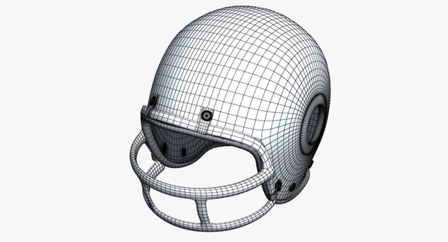 Capacete de futebol royalty-free 3d model - Preview no. 9