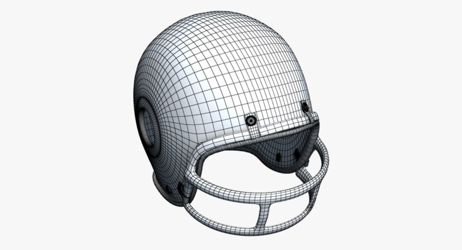 Capacete de futebol royalty-free 3d model - Preview no. 12