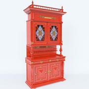 アンティーク食器棚 3d model