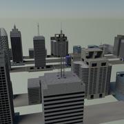 20 buildings 3d model