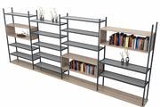 Decoratief boekenrek 3d model