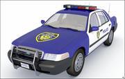 Полицейская машина, Низкополигональная. 3d model