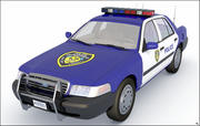 Politieauto, laag poly. 3d model
