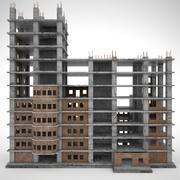 Konstruktionsbyggnad 3d model