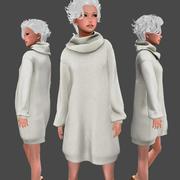 Sweater Dress Beige 3d model