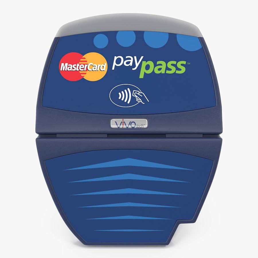 Leitor de cartão de crédito sem contato ViVOtech ViVOpay 4800 royalty-free 3d model - Preview no. 1
