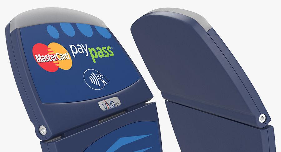 Leitor de cartão de crédito sem contato ViVOtech ViVOpay 4800 royalty-free 3d model - Preview no. 6