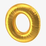 Balon foliowy litera O Gold 3d model