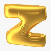 Balon foliowy litera Z Gold 3d model
